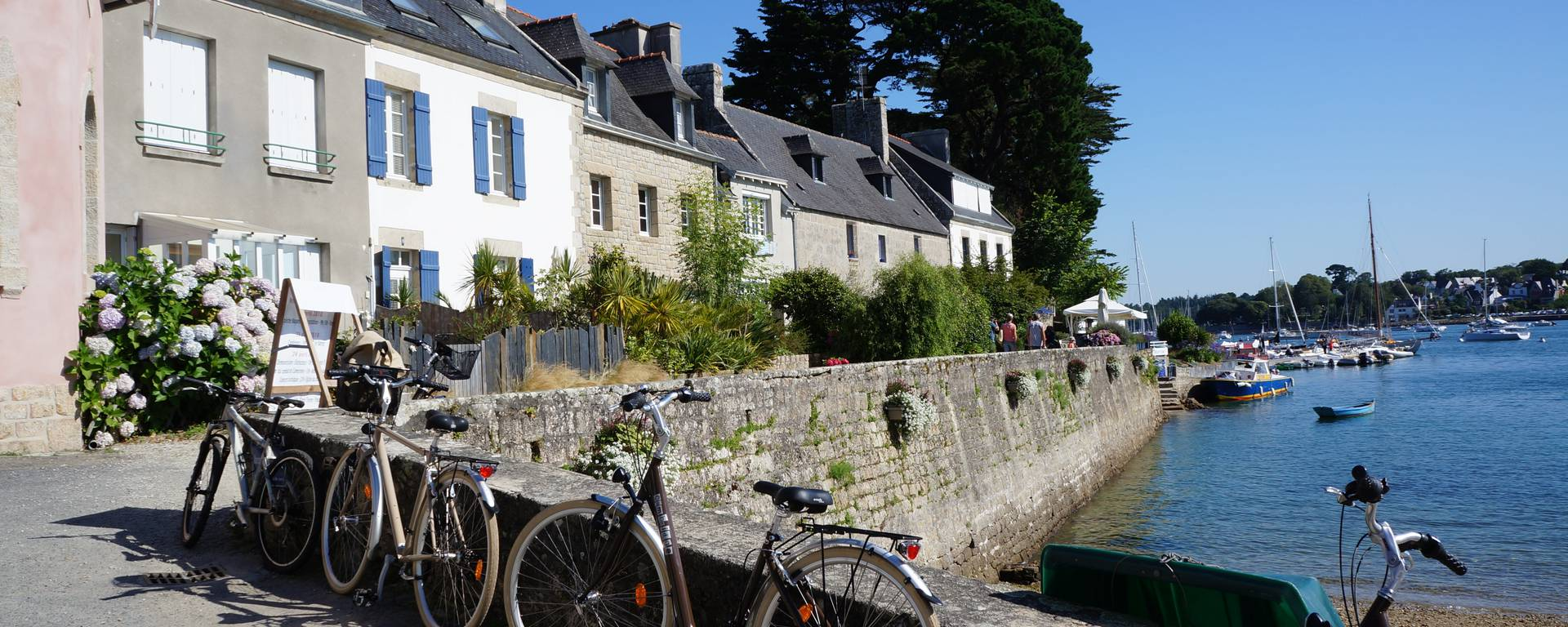 Fahrräder: Pause in Sainte-Marine im Pays Bigouden©E-Cléret