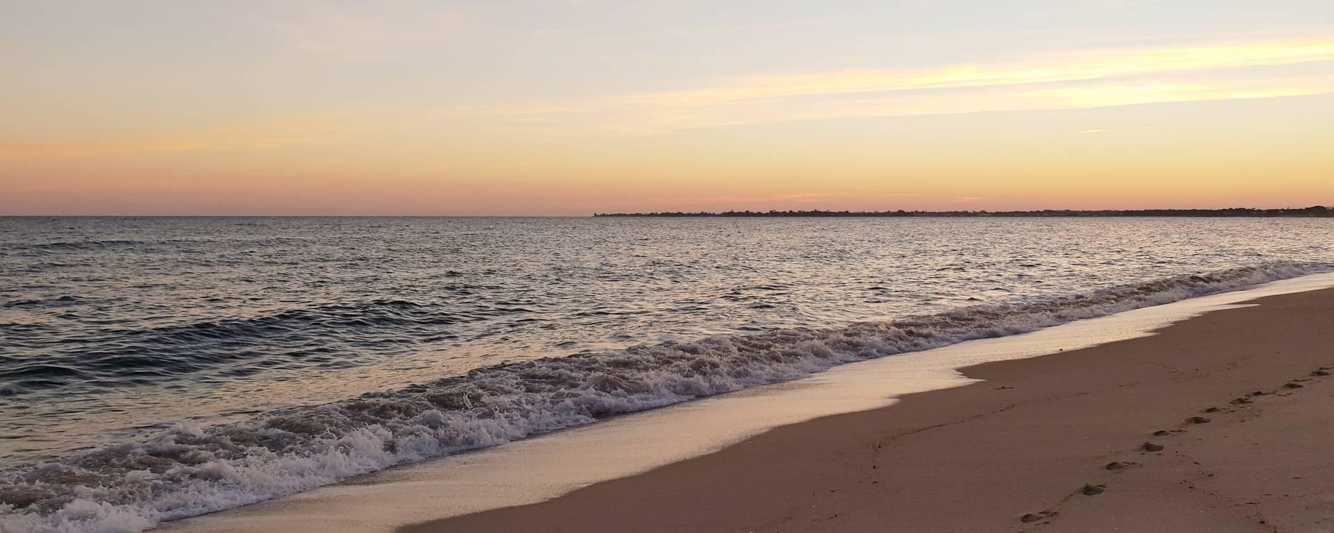 Coucher de soleil - plage de Ste Marine - © S Peuziat