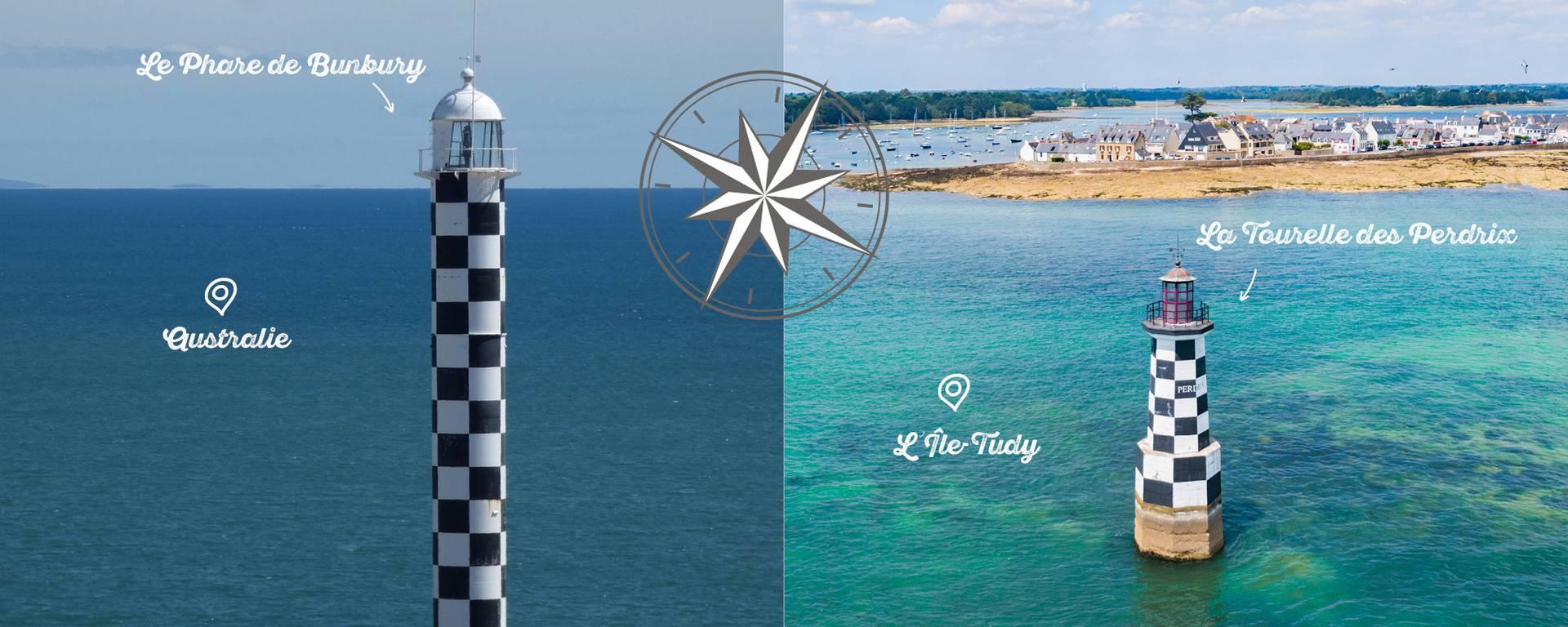 La Tourelle des Perdrix ressemble étrangement au phare de Bunbury en Australie de l'Ouest. ©Freepiks/ © T. PORIEL