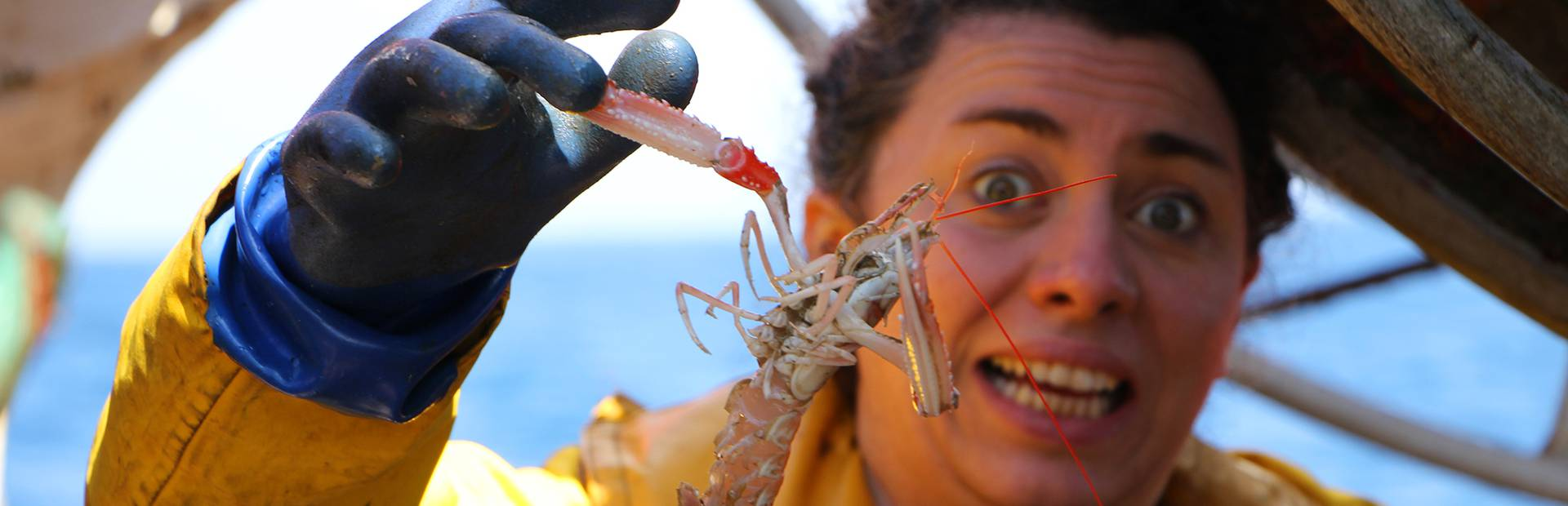 Marlène goes fishing for langoustines © M Pimentel