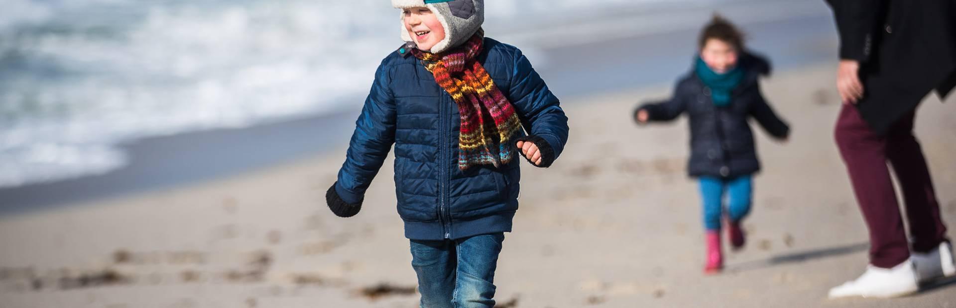 Running on the beach in winter ©Y.Derennes