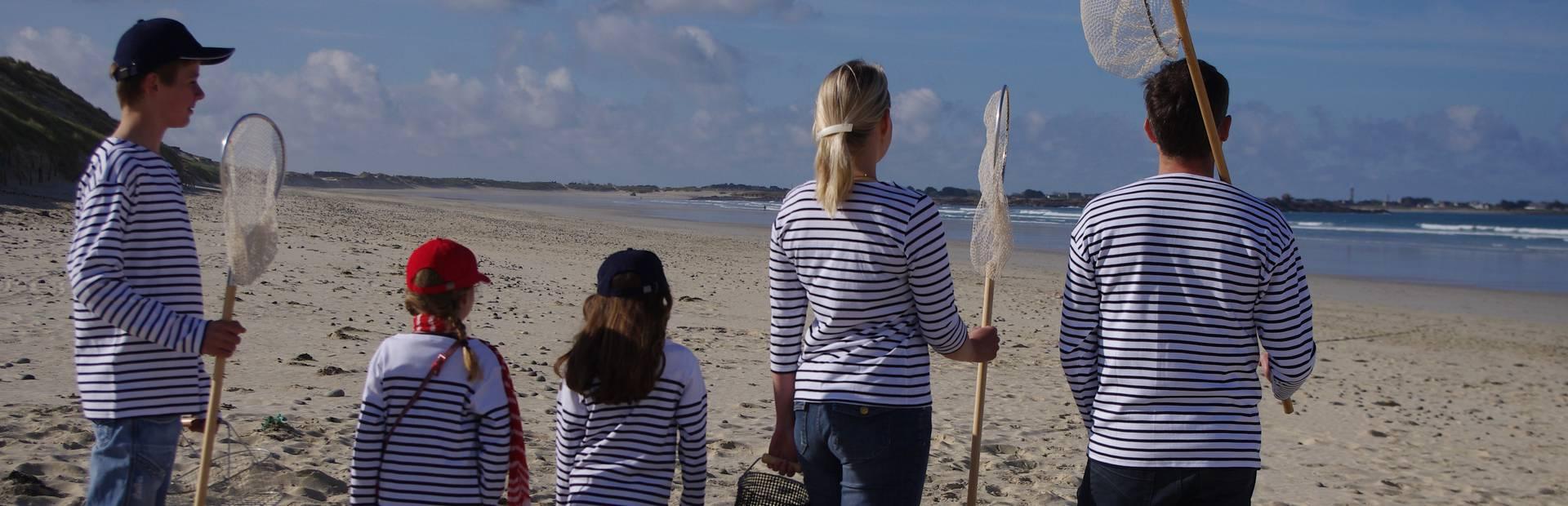 Pêche en famille en Pays Bigouden © E Cléret