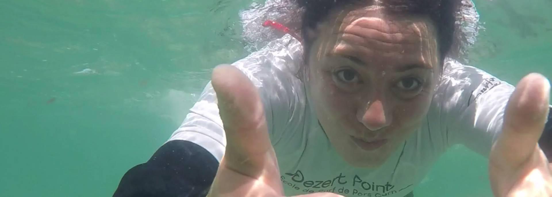 mon premier cours de surf en Pays Bigouden - sous l'eau © T Hourmand