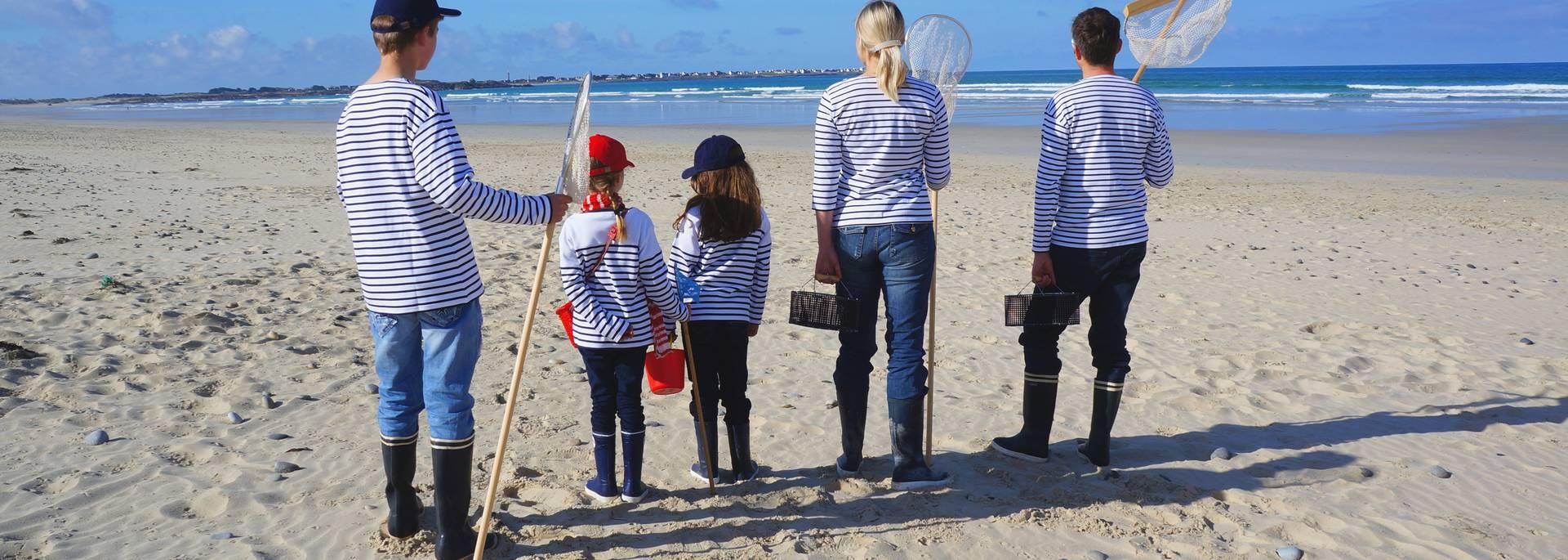 Famille en marinière © E Cléret