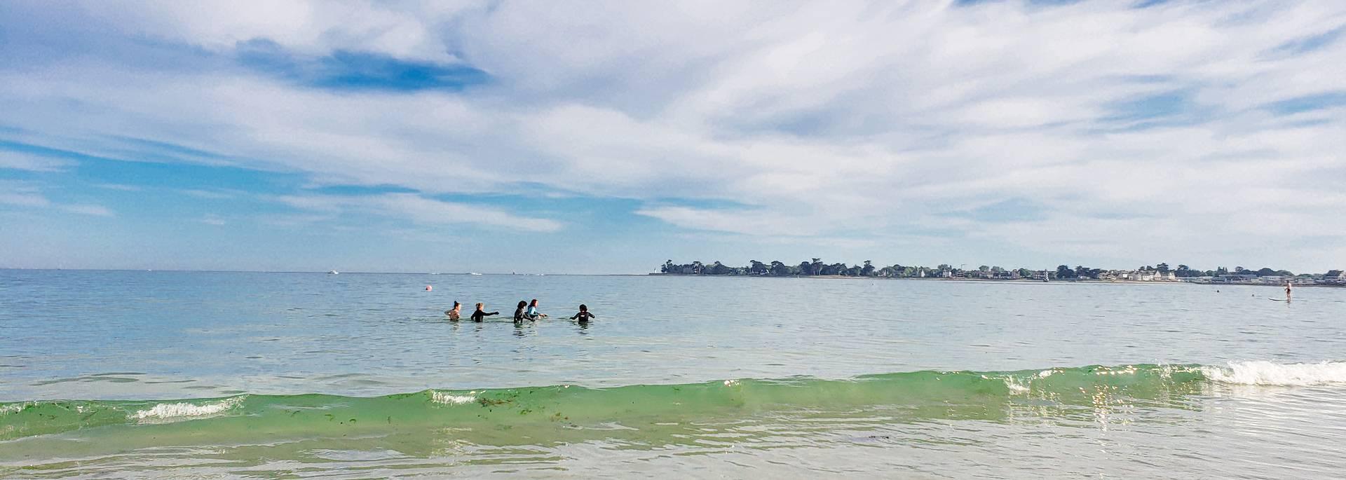 marche aquatique en Pays Bigouden - Île-Tudy ©E Cléret