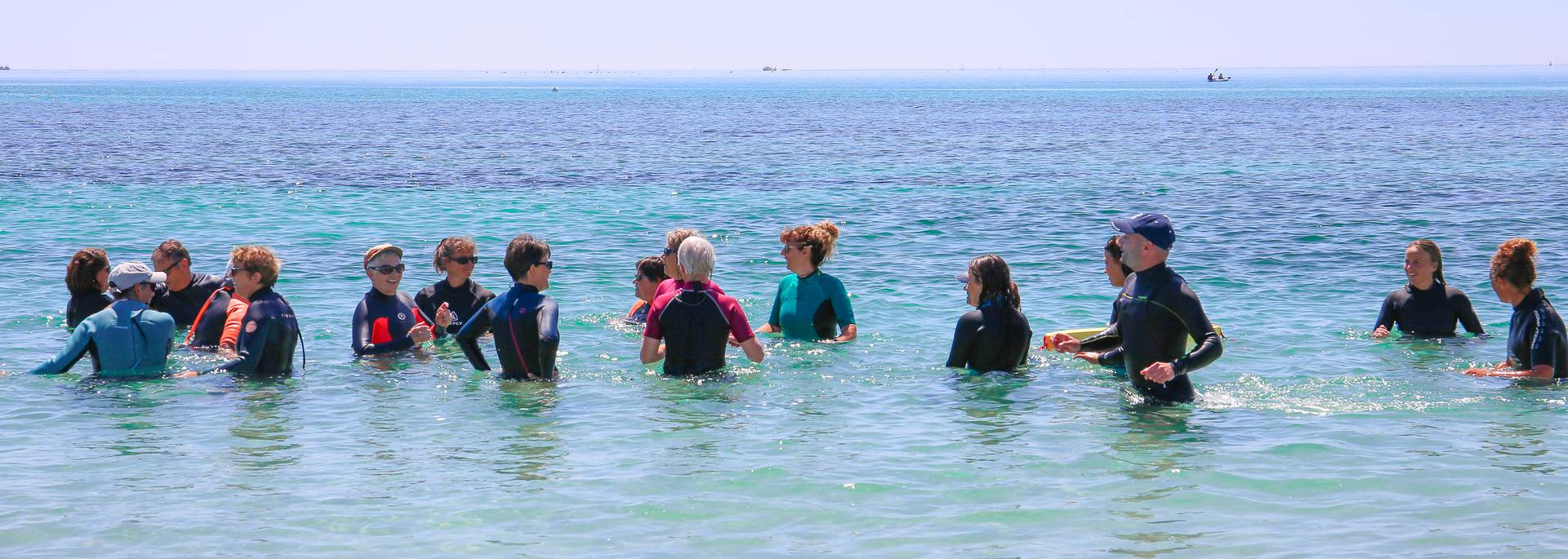 Marche aquatique en Pays Bigouden © E Cléret