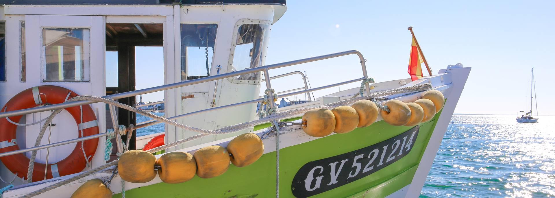 Balade en bateau en Pays Bigouden © E Cléret