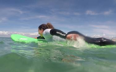 Mon premier cours de surf en Pays Bigouden © T Hourmand