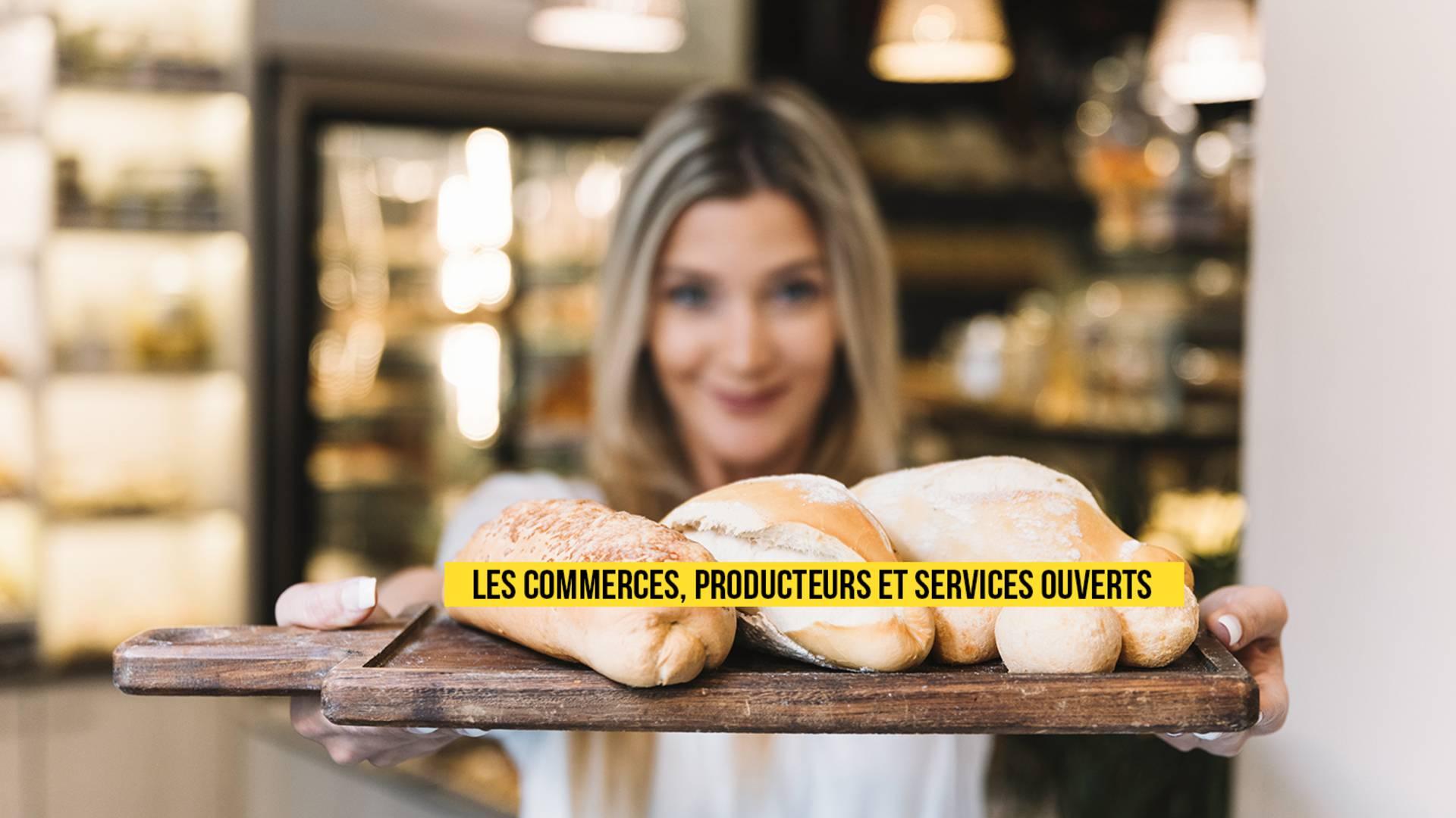 Commerces, producteurs et services ouverts © Freepik