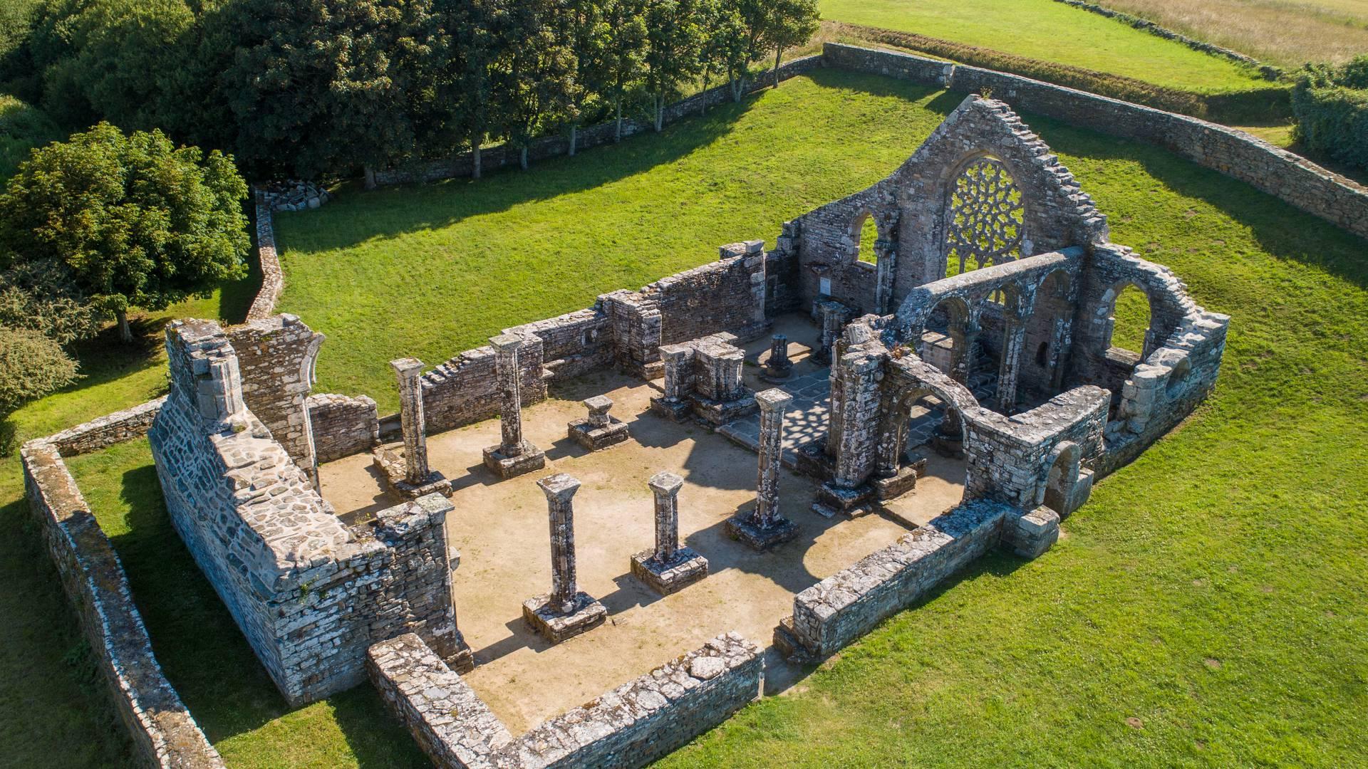 Les ruines de Languidou - ©Gwenn Ha Drone
