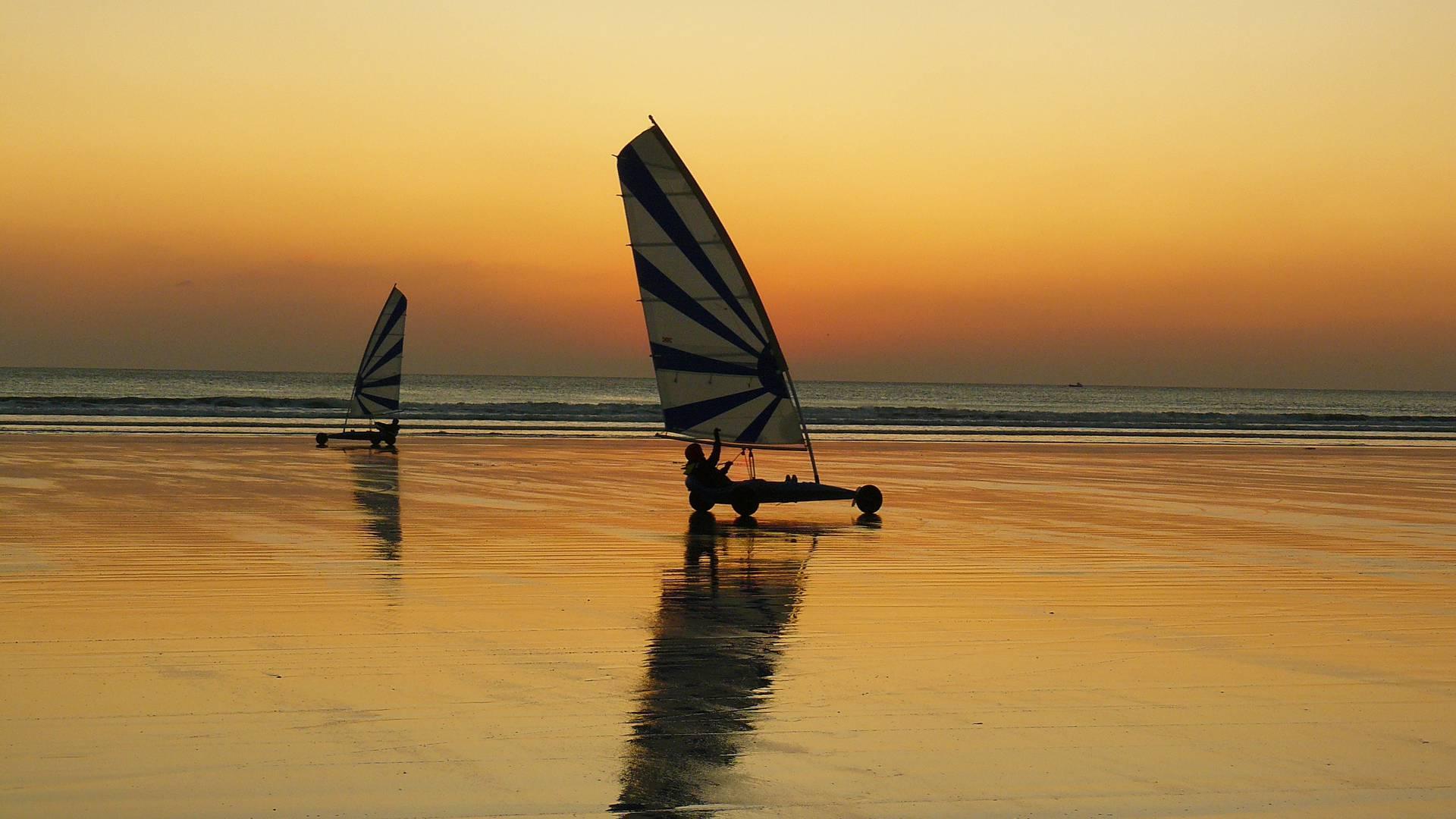 Char à voile en Baie d'Audierne © Plein Ouest
