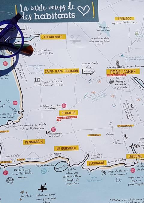 La carte des habitants et infos pratiques du Pays Bigouden Sud