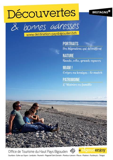 """Guide """"Découvertes et Bonnes adresses"""" 2019 du Haut Pays Bigouden"""