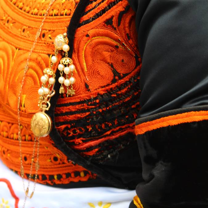 Detail from a Bigouden costume © E Cléret